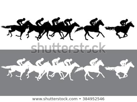 жокей · Скачки · Cartoon · иллюстрация · лошади · Racing - Сток-фото © bonnie_cocos