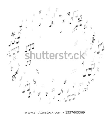 Note musicali scala illustrazione musica sfondo arte Foto d'archivio © colematt