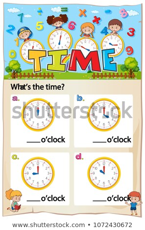 Matemática tempo capítulo trabalhar folha ilustração Foto stock © colematt