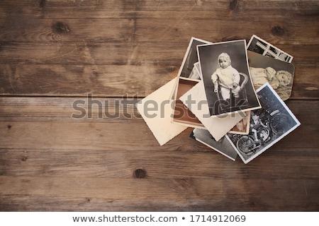 Fényképek család emlékek illusztráció lány anya Stock fotó © adrenalina