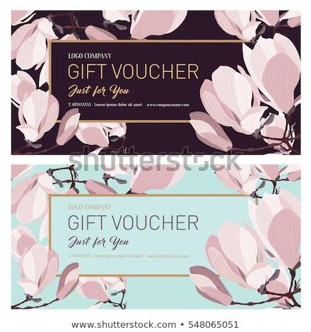 Stock fotó: Color vintage flower shop poster