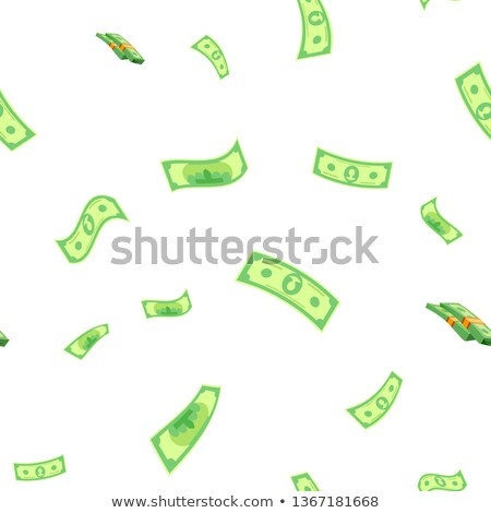 Dollar Seamless Pattern Vector. Green Money. Finance Currency. Cute Graphic Texture. Textile Backdro Foto stock © pikepicture