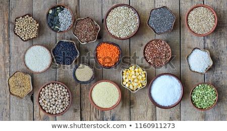 Glutensiz soya fasulye un gri arka plan Stok fotoğraf © furmanphoto