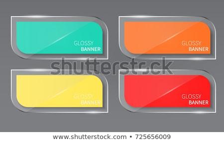 round glass banner template set stock photo © romvo