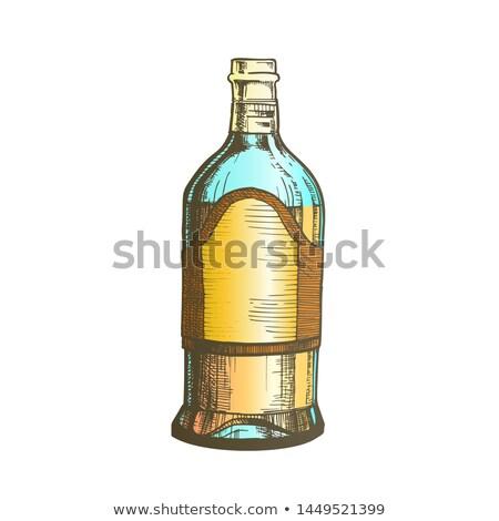 Zárva magas klasszikus mexikói tequila üveg Stock fotó © pikepicture