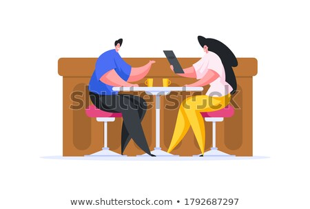 How to Have Happy Relationships Cartoon Characters Stock photo © robuart