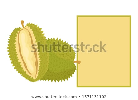 Durian Exotic Juicy Fruit Unusual Flavour and Text Stock photo © robuart