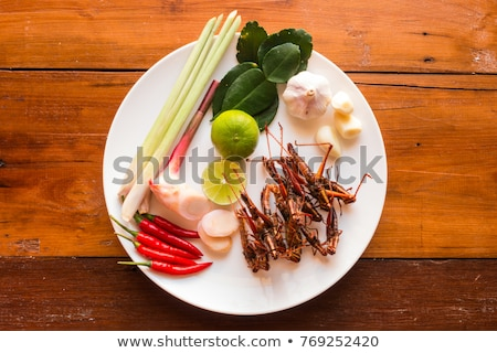 edible fried crickets stock photo © nito