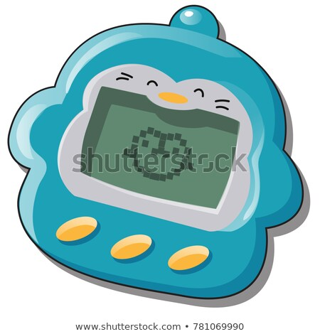 Toy for children, electronic pet isolated on white background. Vector cartoon close-up illustration. Stock photo © Lady-Luck