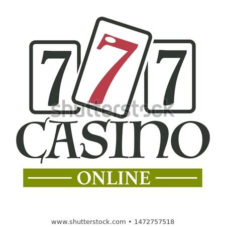 онлайн казино логотип удачливый колесо изолированный Сток-фото © robuart
