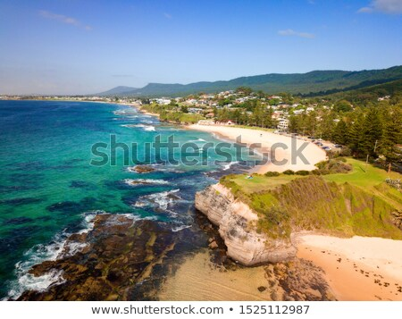 Coastal beach scene views to Austinmer beach Stock photo © lovleah