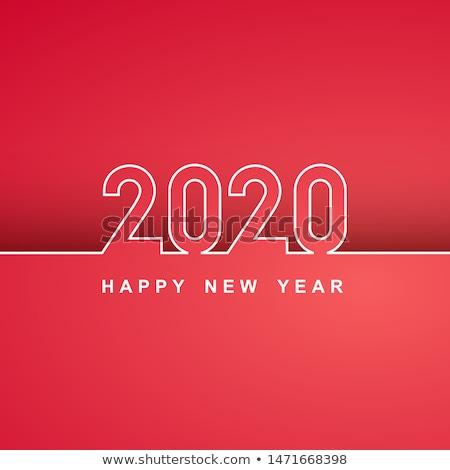 nouvelle · année · célébration · bannière · vecteur · nombre - photo stock © sarts
