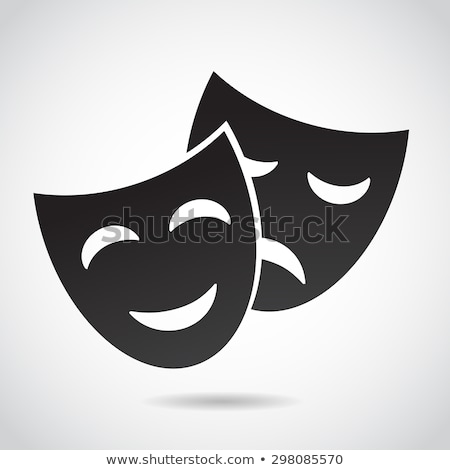 Smiling Mask, Happy Face with Smile Theater Icon Stock photo © robuart
