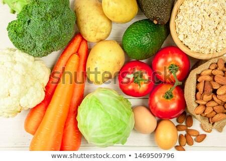 Vegetarisch gezonde voeding dieet vruchten groenten Stockfoto © furmanphoto
