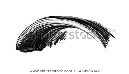 Cosmetics abstract texture background, black acrylic paint brush Stock photo © Anneleven