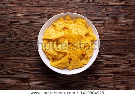 мексиканских Начо чипов различный Сальса сыра Сток-фото © karandaev