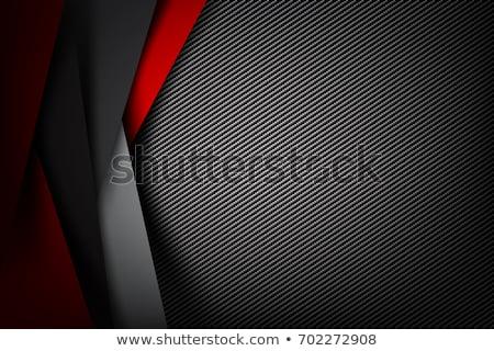 Donkere abstract koolstofvezel ontwerp industrie zwarte Stockfoto © SArts