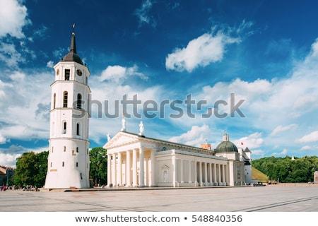 鐘 塔 ヴィルニアス リトアニア 教会 建物 ストックフォト © borisb17