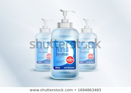 hand santizer realtistic 3d bottle with medical background stock photo © sarts
