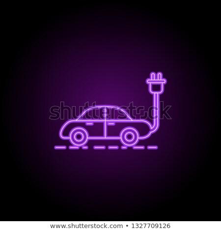 Araba neon ekoloji tanıtım ışık arka plan Stok fotoğraf © Anna_leni