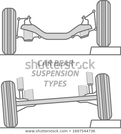 Difference between car rear suspension types - solid axle beam a Stock photo © gomixer
