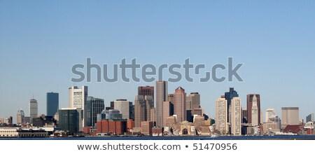 Бостон Skyline зданий Blue Sky копия пространства Сток-фото © ShustrikS
