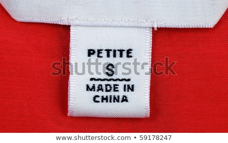 Close Up View Of The Clothing Label Stok fotoğraf © JohnKwan