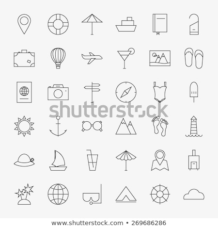 big balloon icon vector outline illustration Stock photo © pikepicture