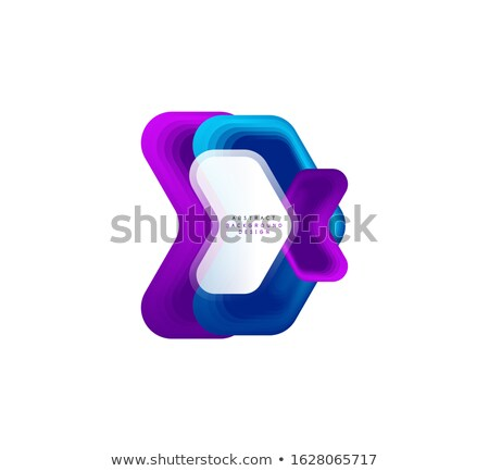 Stock photo: Simple Geometric Triangle Logo Design In A Modern Style Technology Business Identity Concept Creat