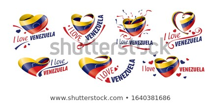 National flag of the Venezuela in the shape of a heart and the inscription I love Venezuela. Vector  Stock photo © butenkow