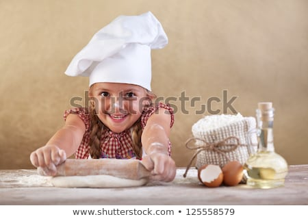 młodych · funny · kucharz · jaj · odizolowany · biały - zdjęcia stock © vladacanon