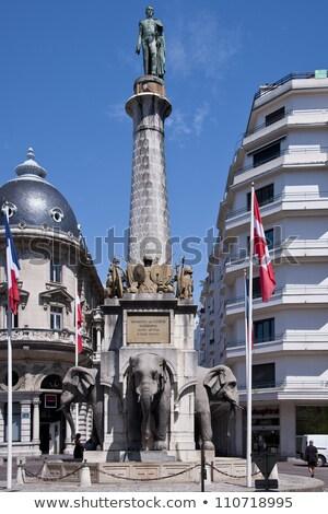 Olifanten fontein Frankrijk stad centrum straat Stockfoto © borisb17