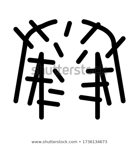 acupuncture throughout body icon vector outline illustration Stock photo © pikepicture