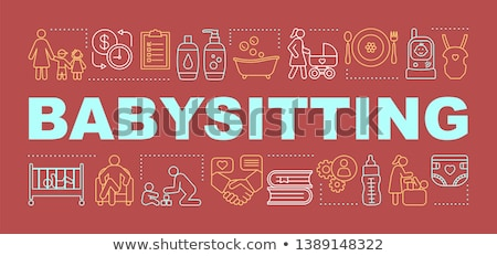 Babysitting services concept banner header Stock photo © RAStudio