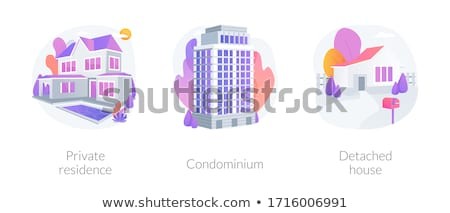 Modern accommodation abstract metaphors Stock photo © RAStudio