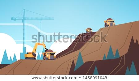 Mining industria camion bulldozer usato Foto d'archivio © robuart