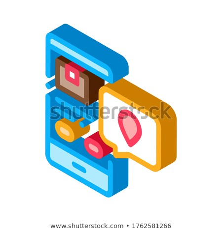 Parcel Location Phone Tracking Postal Transportation Company isometric icon vector illustration Stock photo © pikepicture