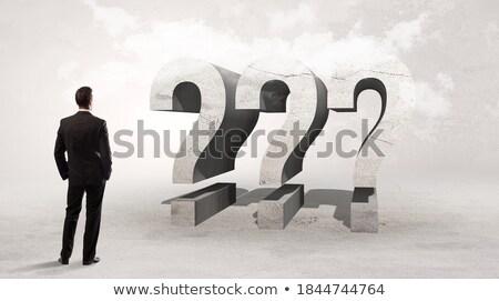 Achteraanzicht zakenman permanente afkorting ip Stockfoto © ra2studio