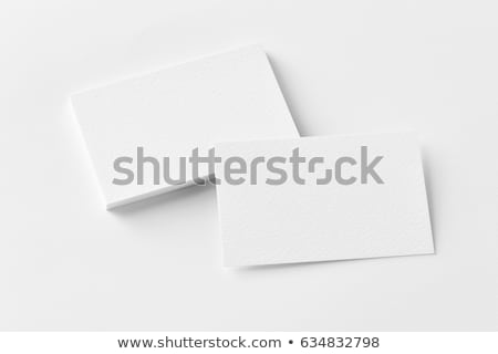 különböző · névjegy · alakú · iroda · papír · kapcsolat - stock fotó © soleilc