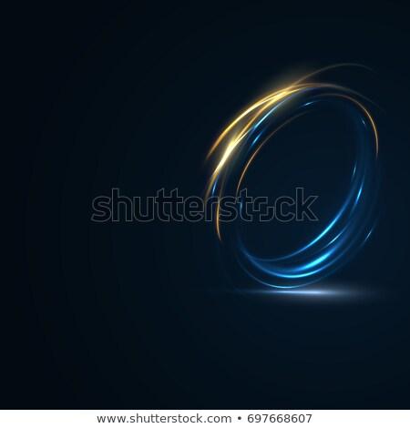 Digitale technologie zoom deeltjes abstract achtergrond netwerk Stockfoto © SArts