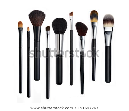 Kosmetik Make-up Produkte isoliert weiß Hintergrund Stock foto © tetkoren