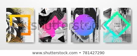 抽象的な · 煙 · 青 · 緑 · 黒 - ストックフォト © posterize