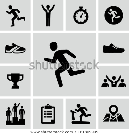 Stock photo: Running Shoes And Stopwatch