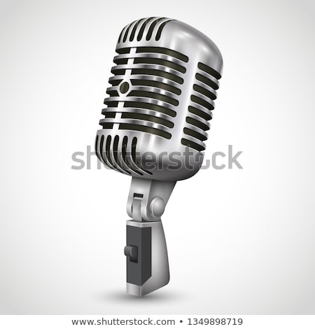 retro microphone on grey stock photo © artjazz