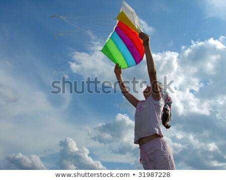 Child starting kite Stock photo © Paha_L