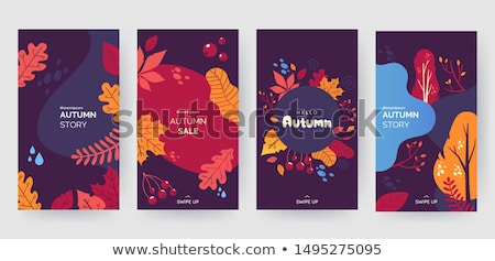 Stock photo: Autumn abstract leaf elements