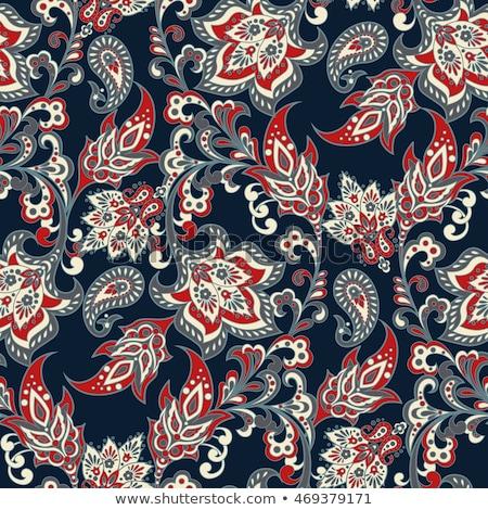 Távolkeleti vászon végtelen minta retro japán piros Stock fotó © sahua