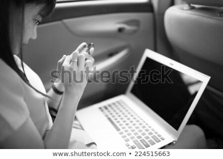 yürütme · işkadını · çalışmak · dizüstü · bilgisayar · araba · kadın - stok fotoğraf © CandyboxPhoto