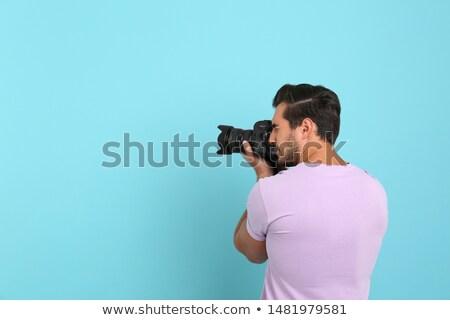 человека фото dslr камеры улыбка Сток-фото © photography33