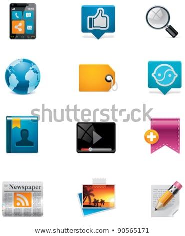 Wektora social media społecznej sieci ikona Zdjęcia stock © tele52